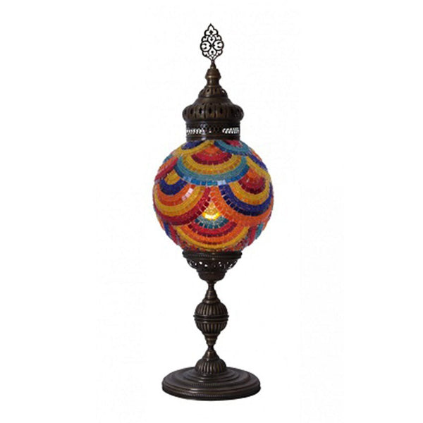 "EXTRA LARGE MOSAIC TABLE LAMP, 25 cm (9.8"")"