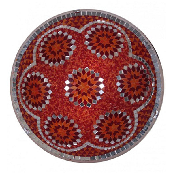TURKISH MOSAIC FLUSH MOUNT SCONCE, 16 INCH, RED