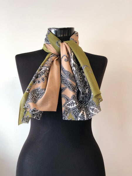 FLORAL THIN SCARF, 0002107