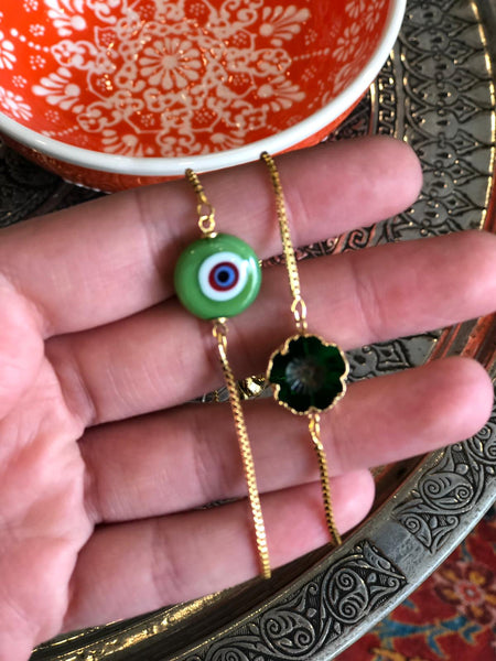 EVIL EYE HANDMADE BRACELET SET OF TWO, 006