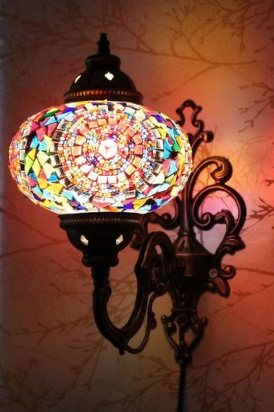 MOSAIC WALL LAMP, MULTI-COLOR 008