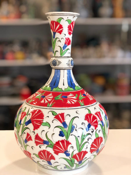 LARGE TEARDROP TURKISH CERAMIC VASE, 40 CM