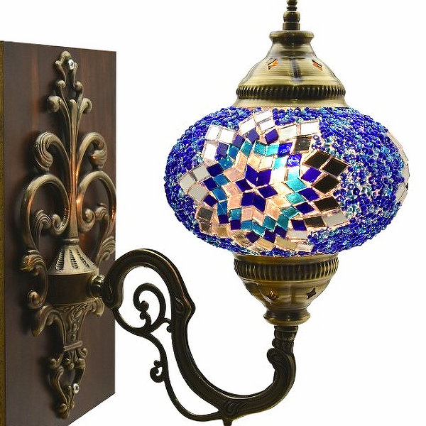 MOSAIC WALL LAMP, BLUE 0010