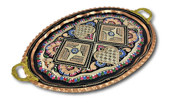 HAND-HAMMERED TURKISH COPPER TRAY