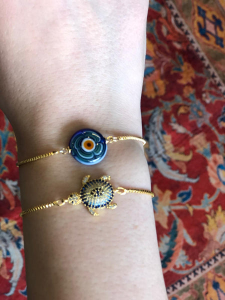 EVIL EYE HANDMADE BRACELET SET OF TWO, 004
