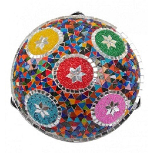 "TURKISH MOSAIC FLUSH MOUNT SCONCE, 30 cm (12"")"