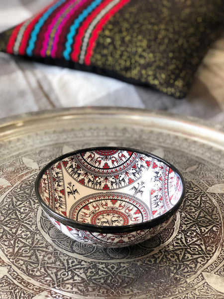 "TURKISH CERAMIC BOWL, 15 cm (5.9""), SMYRNA"