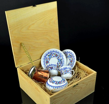 TURKISH COFFEE GIFT SET WITH WOODEN BOX
