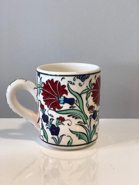 HANDMADE TURKISH CERAMIC COFFEE CUP, IZNIK 002
