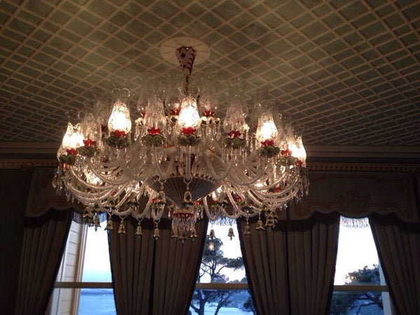 HANDMADE CRYSTAL PALACE CEILING LAMP, 35 LAMPS