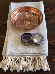 HAMMAM SET, TURKISH PESHTEMAL, HAMAM BOWL AND NATURAL SOAP, 007