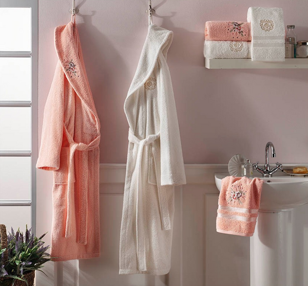 LUXURY BATHROBE SET FOR TWO, 5 PIECES