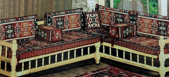 LARGE SEDIR CUSHION SET - TURKISH RESTAURANT / HOTEL DECOR,002