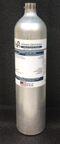 25 ppm Hydrogen Sulfide H2S/Bal air, C-10, 58L - Disposable cylinder