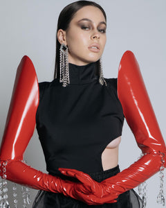 red opera gloves (in collaboration with la roxx).