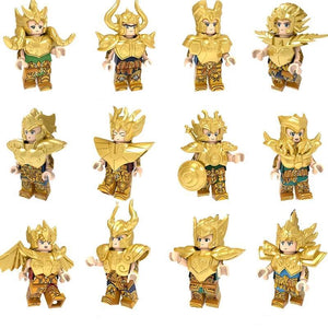 Set of 6 or 12 knight of zodiacs custom figures