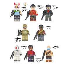 Load image into Gallery viewer, Set of custom Battle Royale Skins figures with weapons