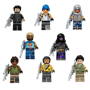 Set of custom Battle Royale Skins figures with weapons