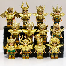 Load image into Gallery viewer, Saint Seiya - Set of 12 Gold Saint minifigures
