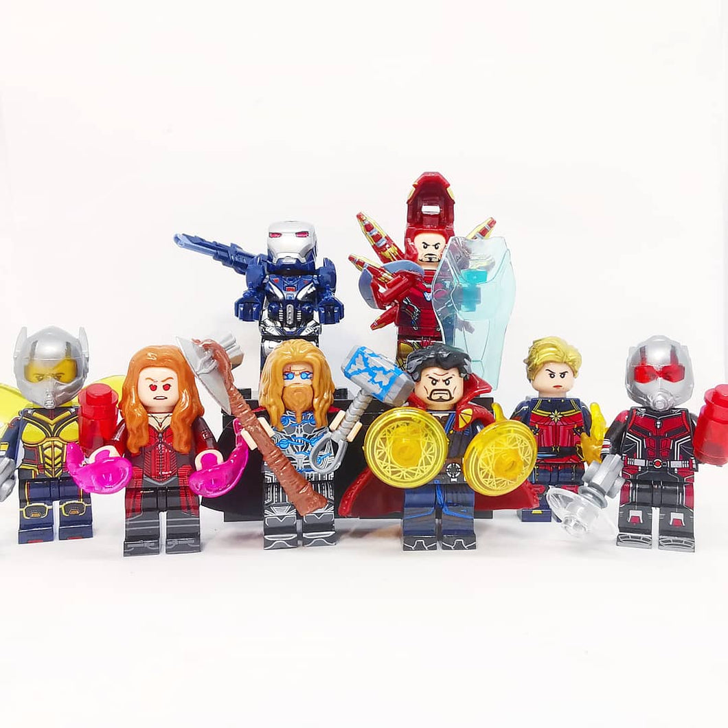 Set of 8 Endgame custom minifigures