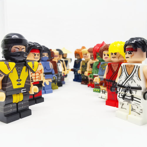 Video games - Set of 16 Mortal Kombat / Street Figther minifigures