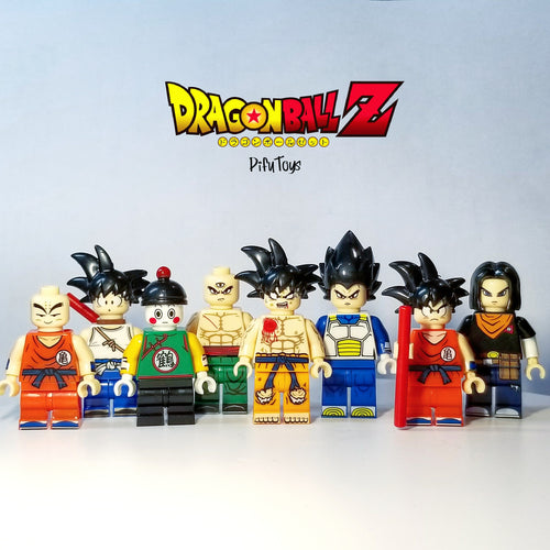 Dragon Ball Z - Set of 8 Dragon Ball Z minifigures with crystal balls lego compatible