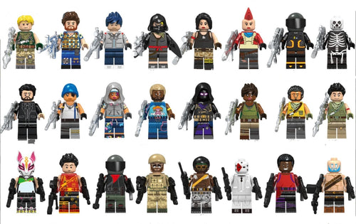 Battle Royale - Set of minifigures Battle Royale Skins with weapons