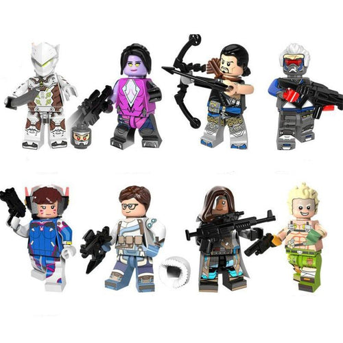 Over Army - Set of 8 Over Army minifigures lego compatible