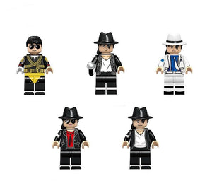 Michael Jackson - Set of 5 Michael Jackson minifigures lego compatible