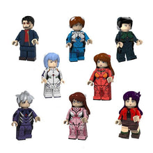 Load image into Gallery viewer, Set of 8 pilot custom brick figures