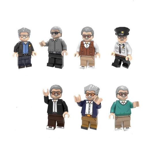 Stan Lee - Set of 8 Stan Lee minifigures lego compatible