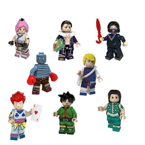 Set of 8 Adventurer custom brick figures