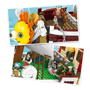 Straw Hat Boat 2000 pieces to build including 9 Straw Hat Crew custom figures