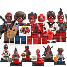 Load image into Gallery viewer, Super Heroes - Set of 6 red ninja minifigures in uniform