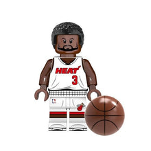 Load image into Gallery viewer, Set of 9 Basket Players custom brick figures