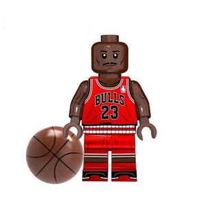 Set of 9 Basket Players custom brick figures