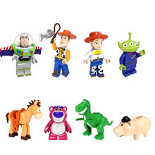 Load image into Gallery viewer, Set of 8 Toy custom brick minifigures