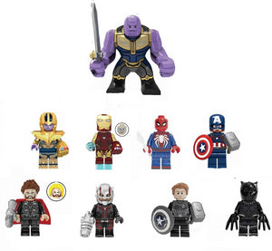 Set of 9 Endgame custom brick figures