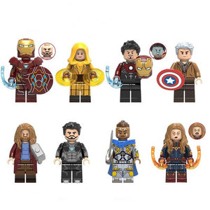Set of 8 Superheroes custom brick figures