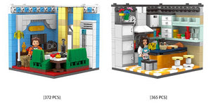 Room sets including 1 figure around 320 pieces each