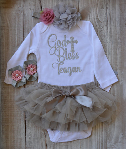 Personalized Baptism Outfit After Party.