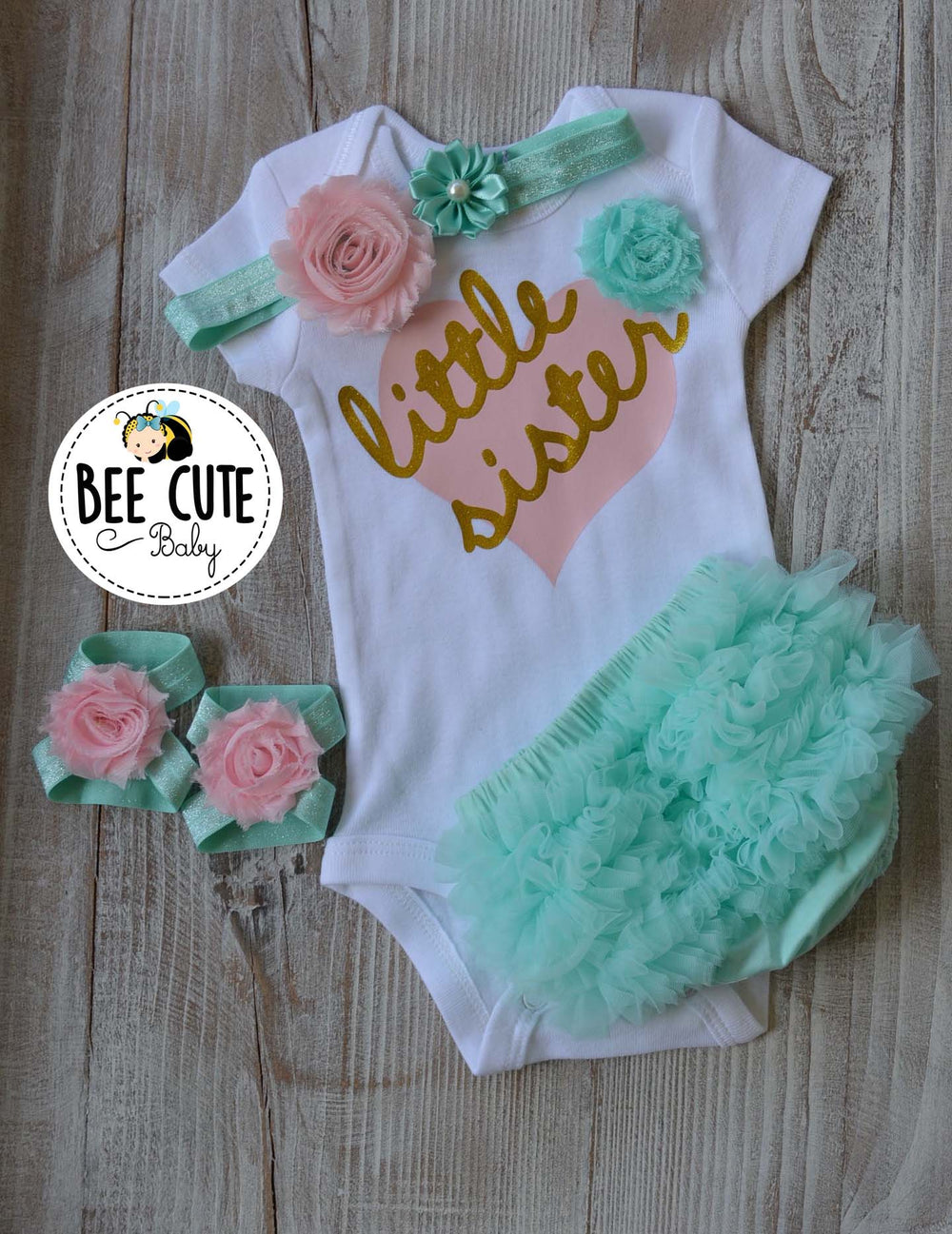 Little Sister Baby outfit - beecutebaby