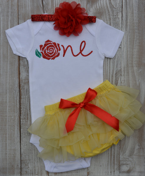 Belle Birthday outfit. - beecutebaby
