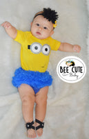 Baby Girl Inspired Minion  Costume - beecutebaby