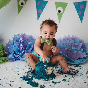 Monsters Inc Sulley inspired Smash Cake Boy First Birthday turquoise  cotton Diaper Cover, purple  Suspenders,green lime bow tie - beecutebaby