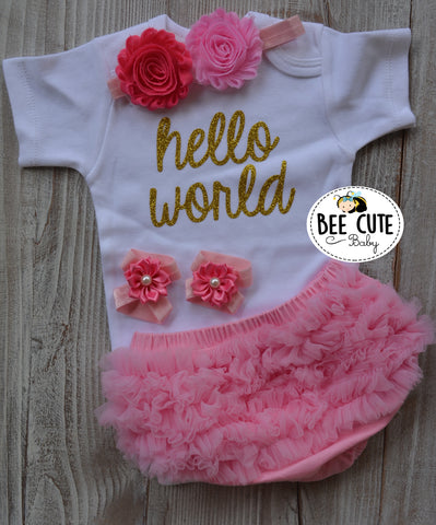 Hello World Baby outfit