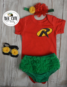 Robin Baby Girl Inspired Costume - beecutebaby