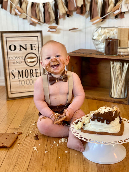 Smores 3 pcs set Smash Cake Boy First Birthday - beecutebaby