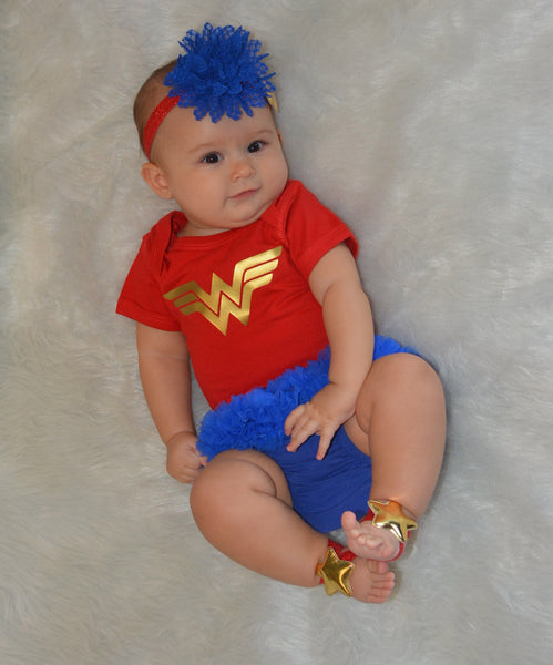 Wonder Woman Baby inspired Costume - beecutebaby