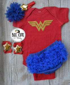 Wonder Woman Baby Outfit - beecutebaby